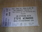 Steve Winwood ticket stub