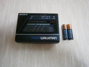 Walkman and batteries